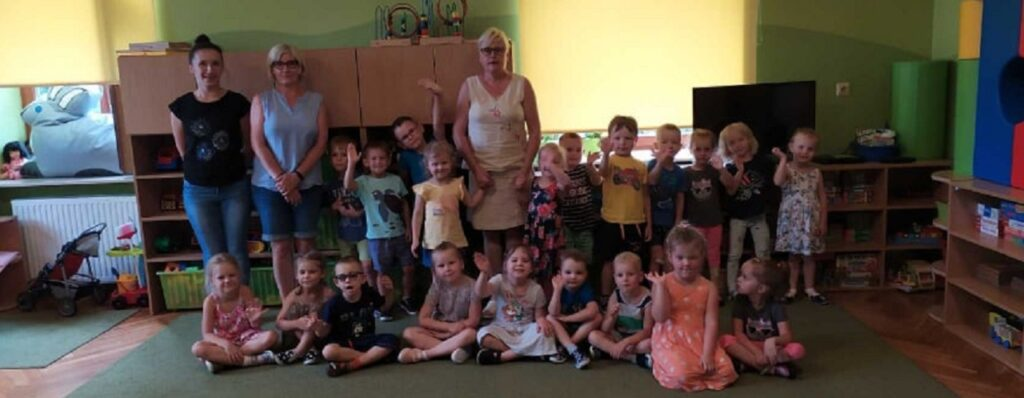 Odwiedziny przedszkolaków w Wołowicach