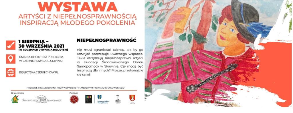 """Wystawa """"Artyści z niepełnosprawnością inspiracją młodego pokolenia""""– Czernichów"""